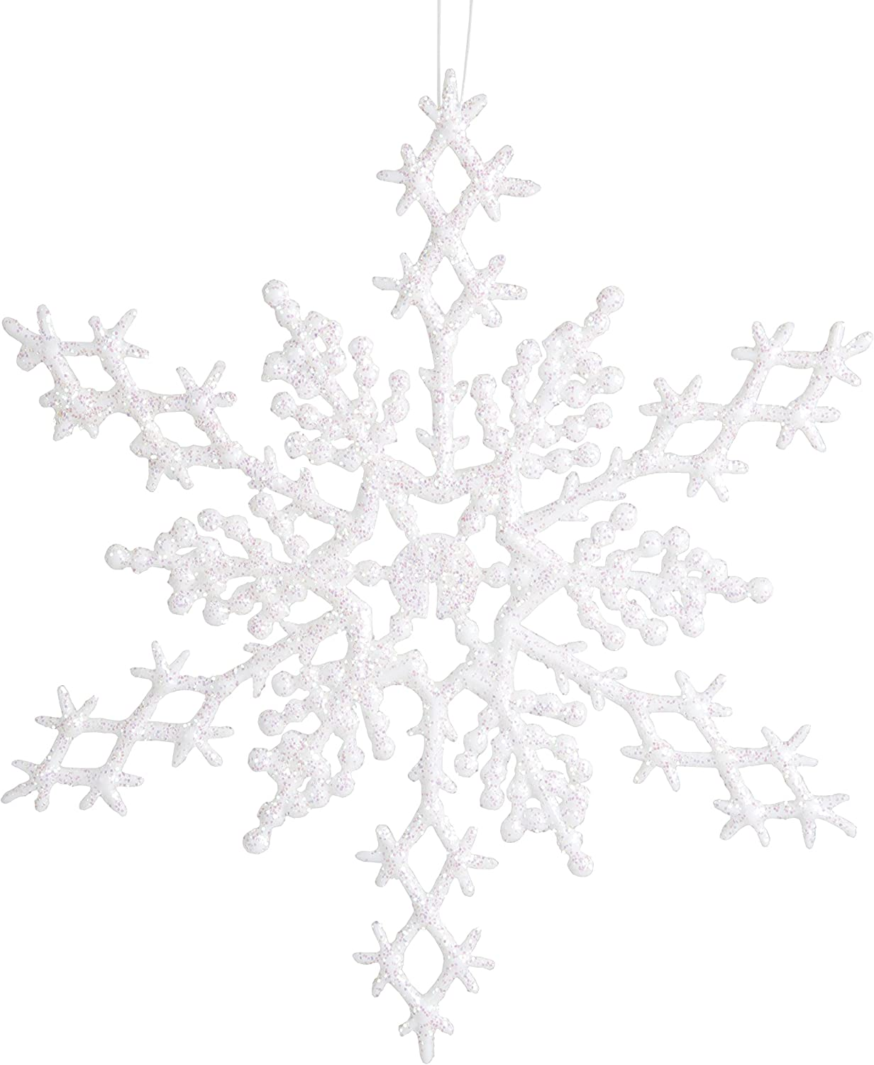 60stk White Snowflake Ornaments Christmas Holiday Party Home dekortions !
