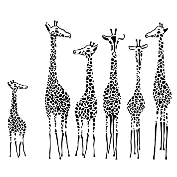 PotteLove Wall Decal Sticker Giraffe Animals Jungle Safari Kids Nursery Bedroom 22 Inches