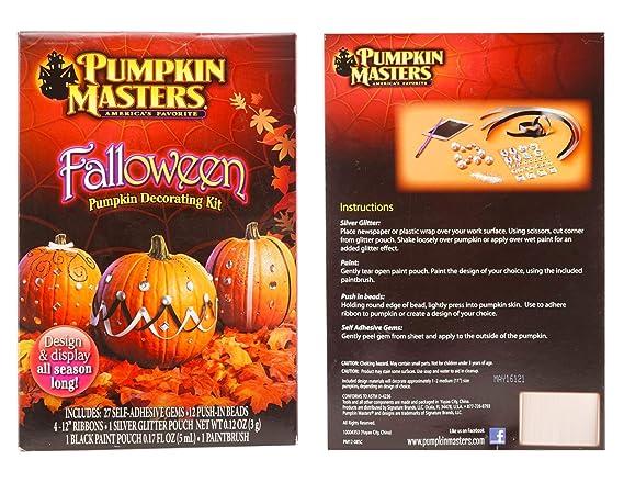 Amazon Com Falloween Pumpkin Decorating Kit 2 Pack