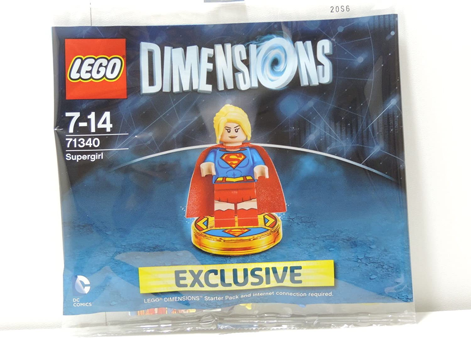 71340 Lego Dimensions Exclusive SuperGirl Limited Edition Rare ...