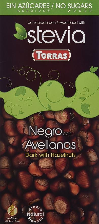 Chocolate Negro Avellanas Stevia - Sin Azúcar: Amazon.es: Alimentación y bebidas