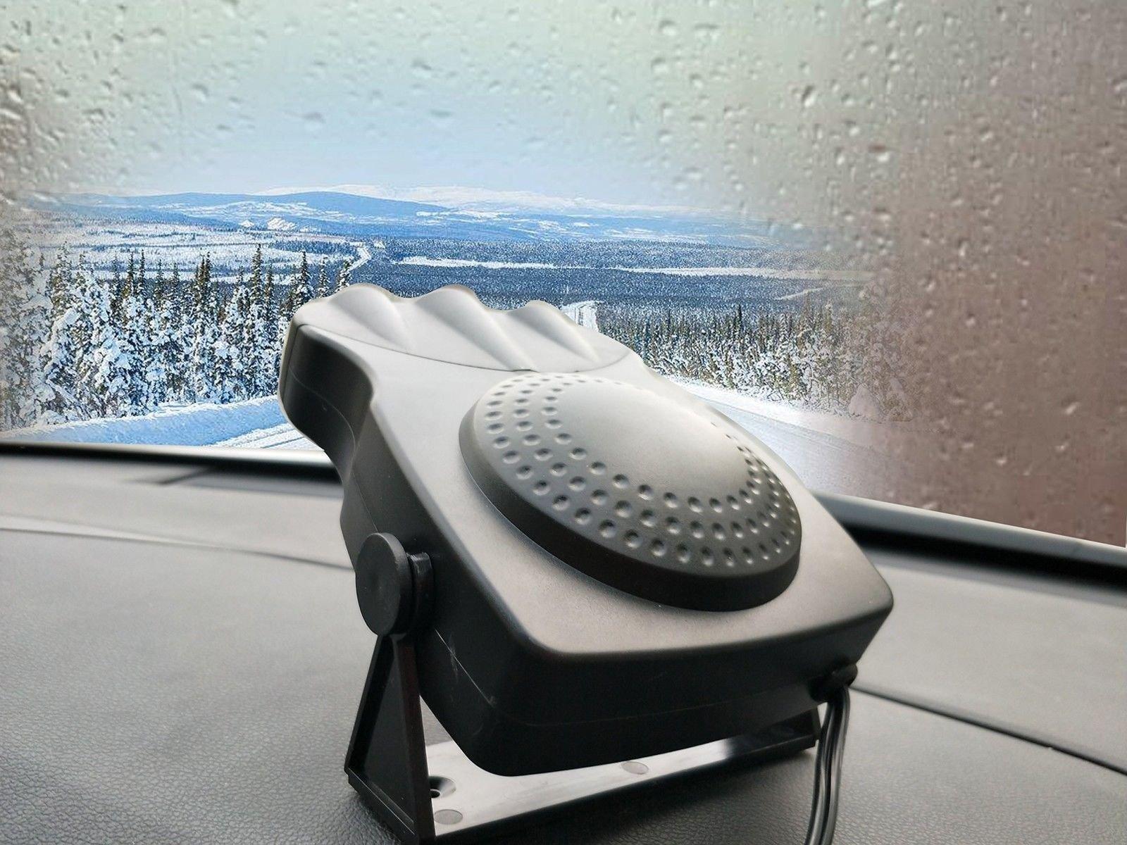 Portable Car Heater Fan, ixaer Car Vehicle Heating Cooling Fan 30 Seconds Fast Heating Quickly Defrosts Defogger 12V 150W Auto Ceramic Heater Cooling Fan 3-Outlet - Winter Auto Windscreen Heater Fan