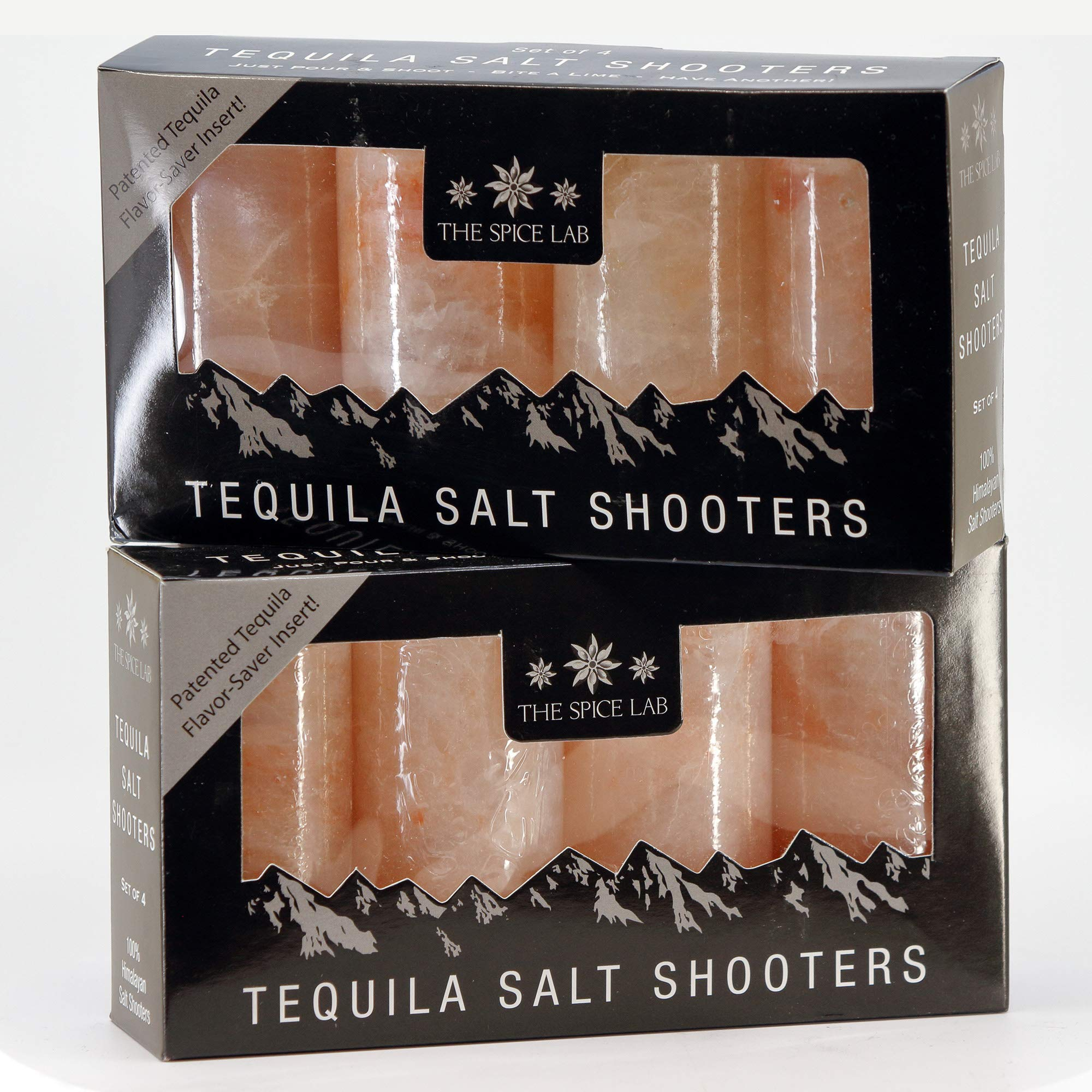 The Spice Lab Pink Himalayan Salt Tequila Shot Glasses - Just Pour, Shoot and Bite a Lime - Authentic Patented - Naturally Anti-Bacterial - The Perfect Tequila Shot Glass for your Bar- 8 Pack