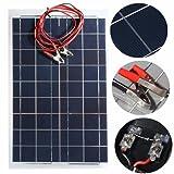 mohoo 12V 30W Solar Panel Ladegerät Ladegerät mit 4m Kabel für Camper, Caravan, Boot oder einen anderen 12V System
