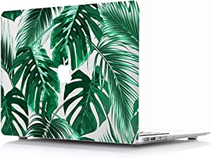 Case for L2W MacBook Air 13 Model: A1369/A1466 Protective Hard Case, Soft Touch Plastic Rubber Coated Shell Cover Compatible with MacBook Air 13 - Tropical Palms Leaves 09