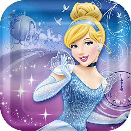 Cinderella u0027Sparkleu0027 Small Paper Plates ...  sc 1 st  Amazon.com & Amazon.com: Cinderella u0027Sparkleu0027 Small Paper Plates (8ct): Kitchen ...