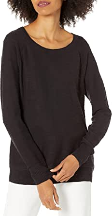Daily Ritual Amazon Brand Women's Lightweight Open-Crewneck Raglan Sweater
