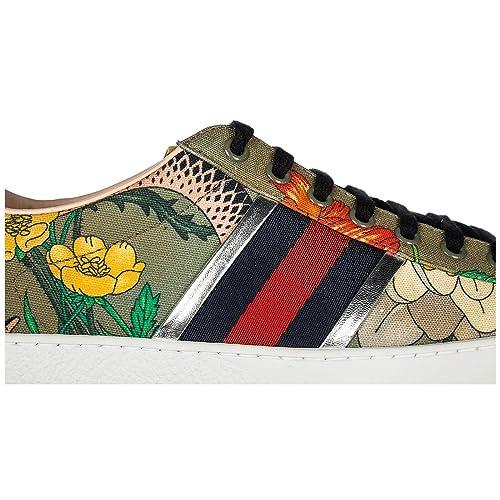 Gucci Zapatos Zapatillas de Deporte Hombres Nuevo Flora Snake Verde EU 42.5 4737639IZ603779: Amazon.es: Zapatos y complementos