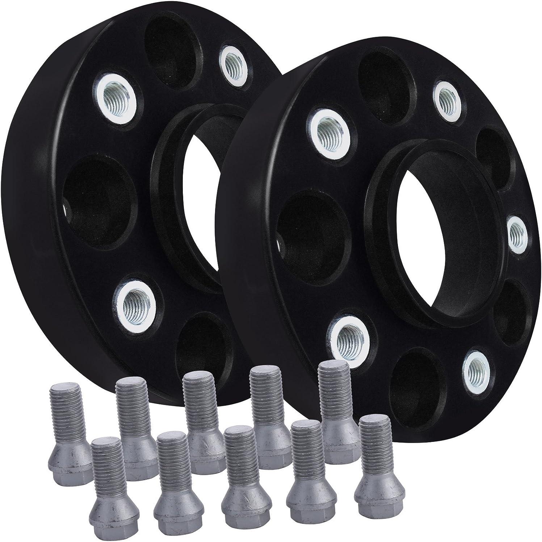 12146W/_10/_M1425KE47W BlackLine Spurverbreiterung 40mm 20mm mit Schrauben schwarz 4x100 56,1mm