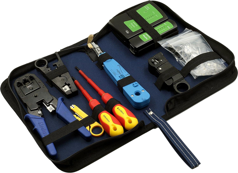 destornillador Juego de herramientas impermeables con alicate de compresi/ón llave inglesa 7 unidades cortador de cable conector en F universal pelacables