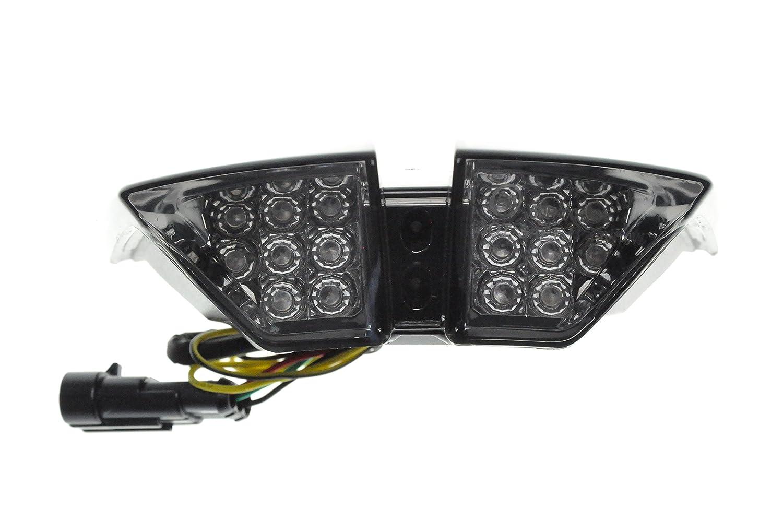 Topzone Moto rauchgrau lens MOTORRAD LED-R/ücklichter R/ücklicht mit integrierten Blinker Lampe Indikatoren f/ür MV Agusta 2010-2012 F4