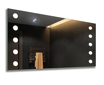 Controluce led specchio su misura illuminazione sala da bagno