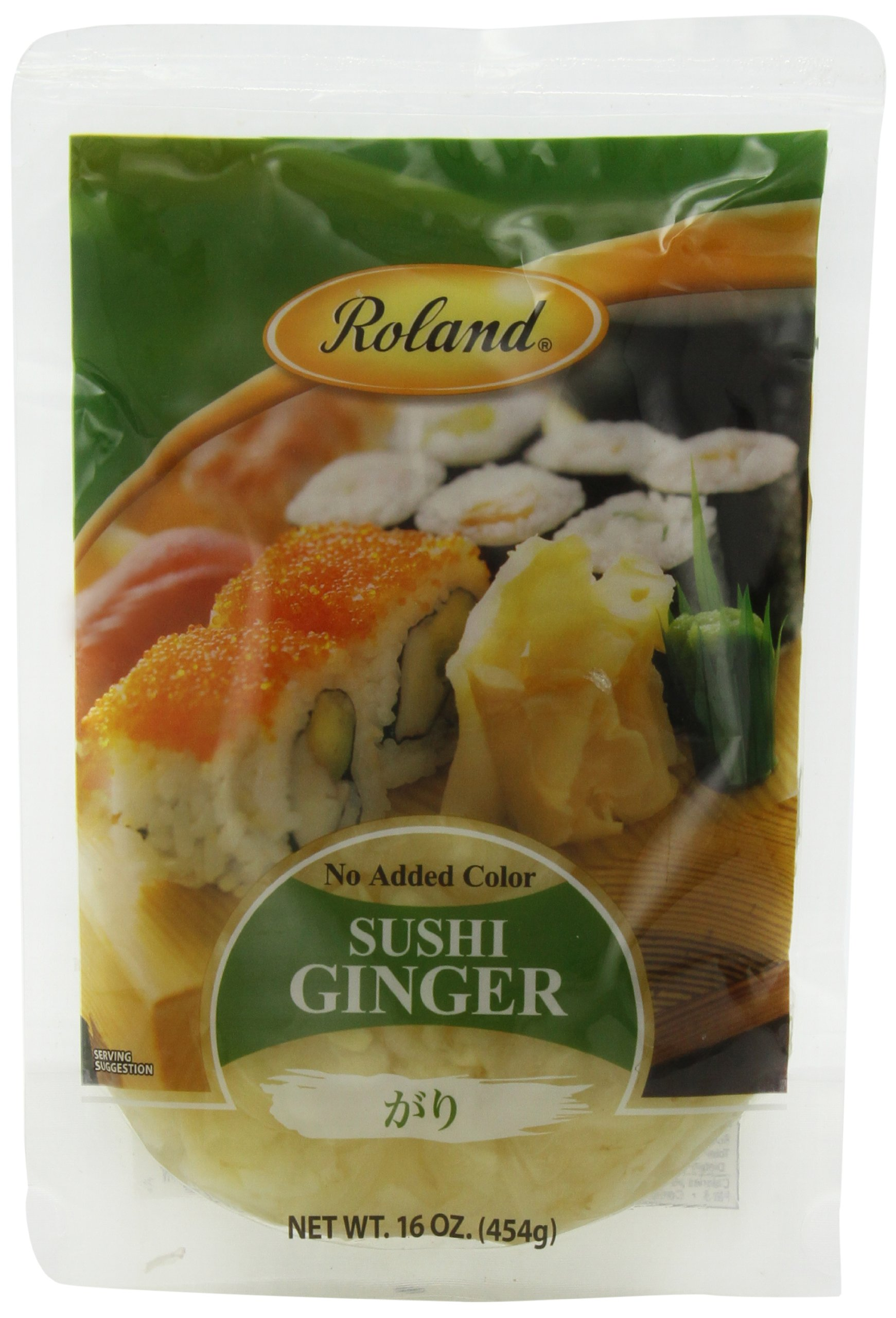 Amazon.com : Roland Sushi Ginger, 16 Ounce (Pack of 6) : Packaged Meats And Seafoods : Grocery & Gourmet Food
