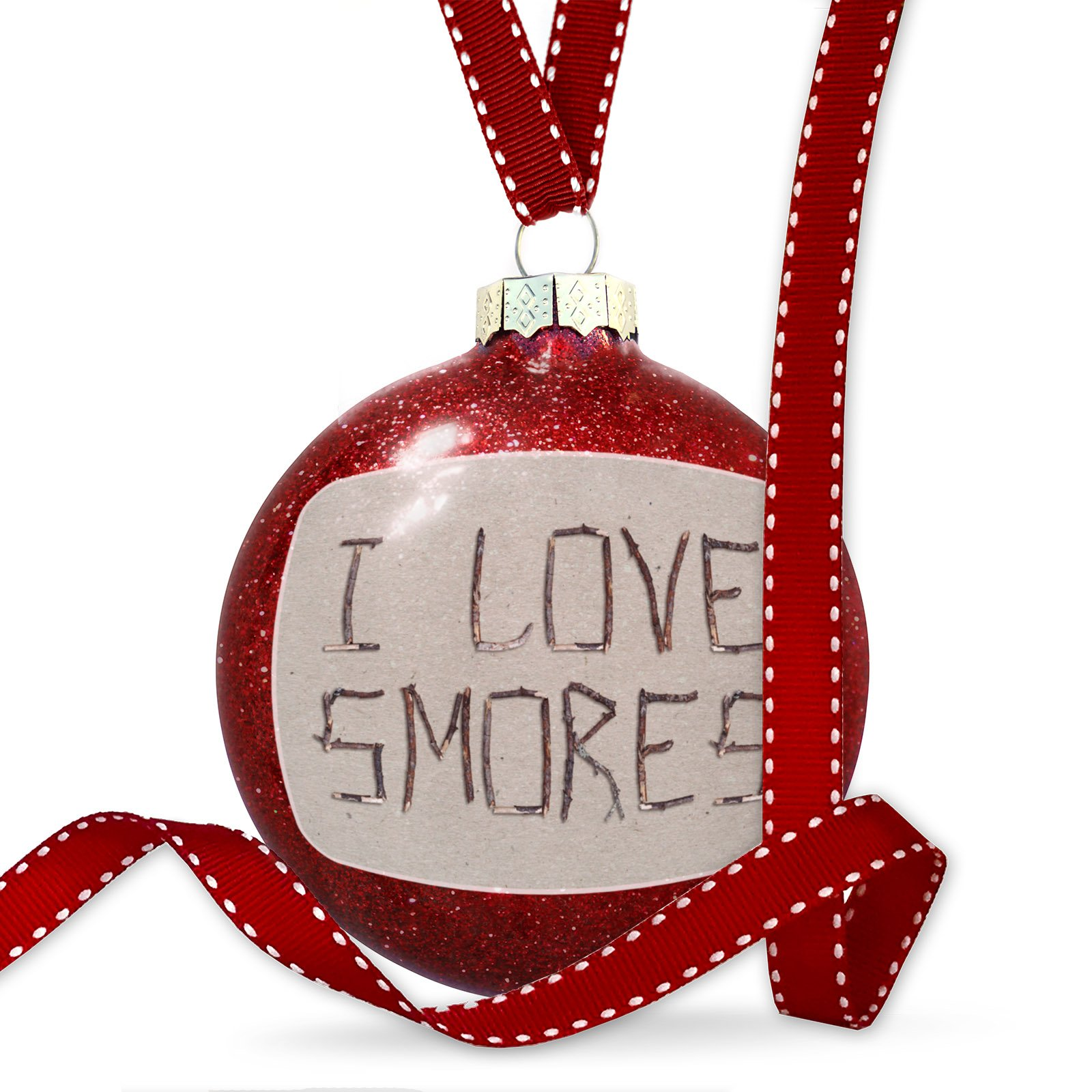 Christmas Decoration I Love Smores Nature Wood Tree Ornament by NEONBLOND (Image #1)