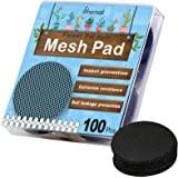 100PCS Pot Hole Mesh Pad, Bonsai Pot Bottom Grid Mat Mesh, Plant Drainage Screens Gasket, Round Drainage Mesh Hole Screens Ke
