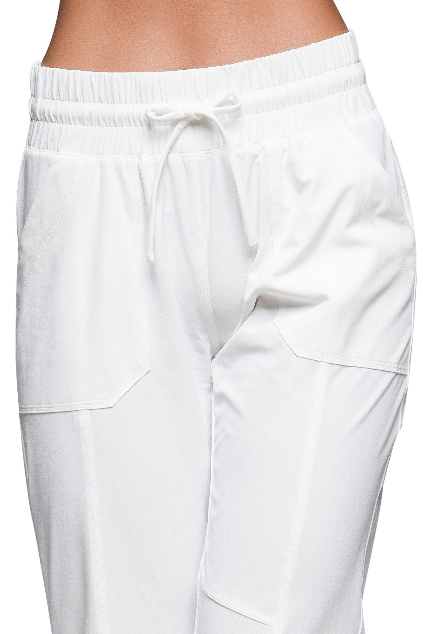 TITIKA Women's Yoga Leisure Pants Great for Casual and Training at the Gym (4, White) by TITIKA ACTIVE COUTURE