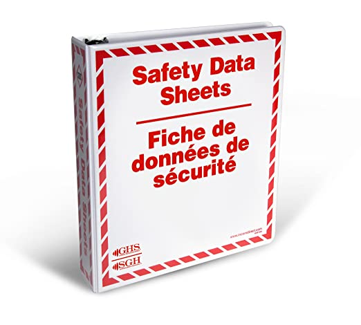 GHS/WHMIS: Safety Data Sheets (SDS) Binders with AZ Safety Signs (ENG/FRE)