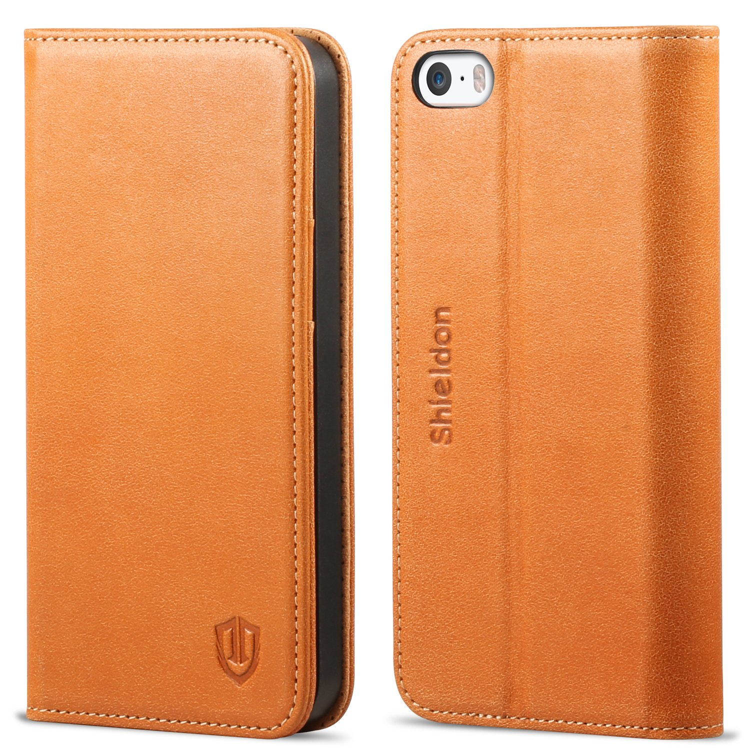 Iphone se case iphone 5s case shieldon genuine leather case wallet case seri ebay - Iphone 5s leather case ...