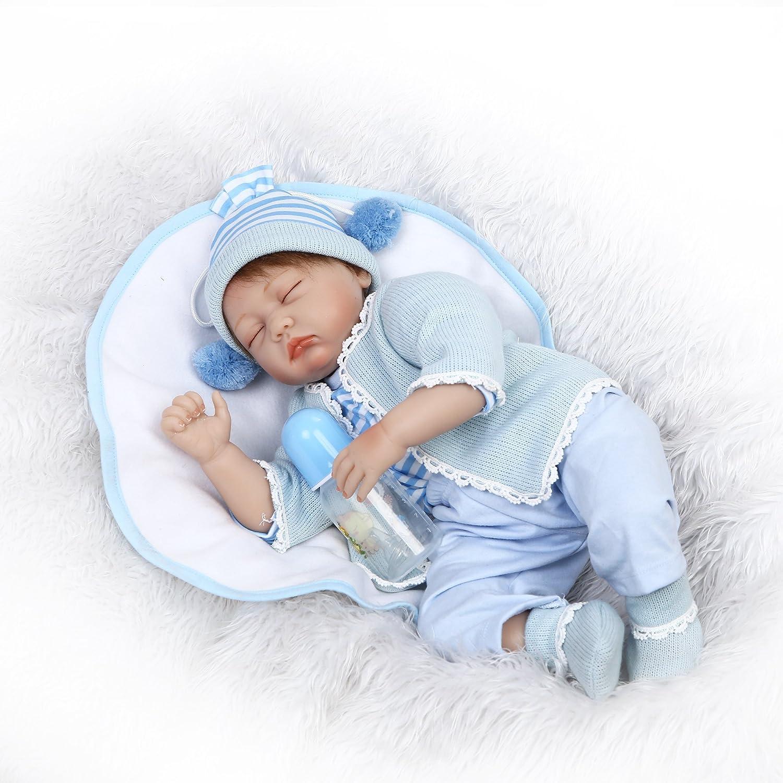 """icradleハンドメイド22 """" 55 cm AliveビニールシリコンLovely Real Life Like Rebornベビー人形Realistic Looking Crafted新生児Dolls Alive BabyマグネットおしゃぶりクリスマスギフトUnwashable子パートナー   B07BDDN6MZ"""