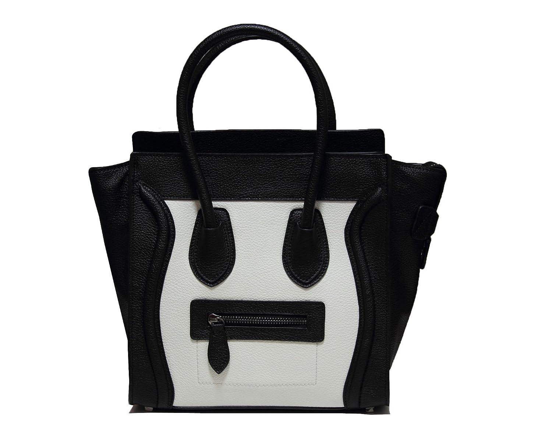 Classic Women's White and Black Smile Bag Handbag Shoulder Bag