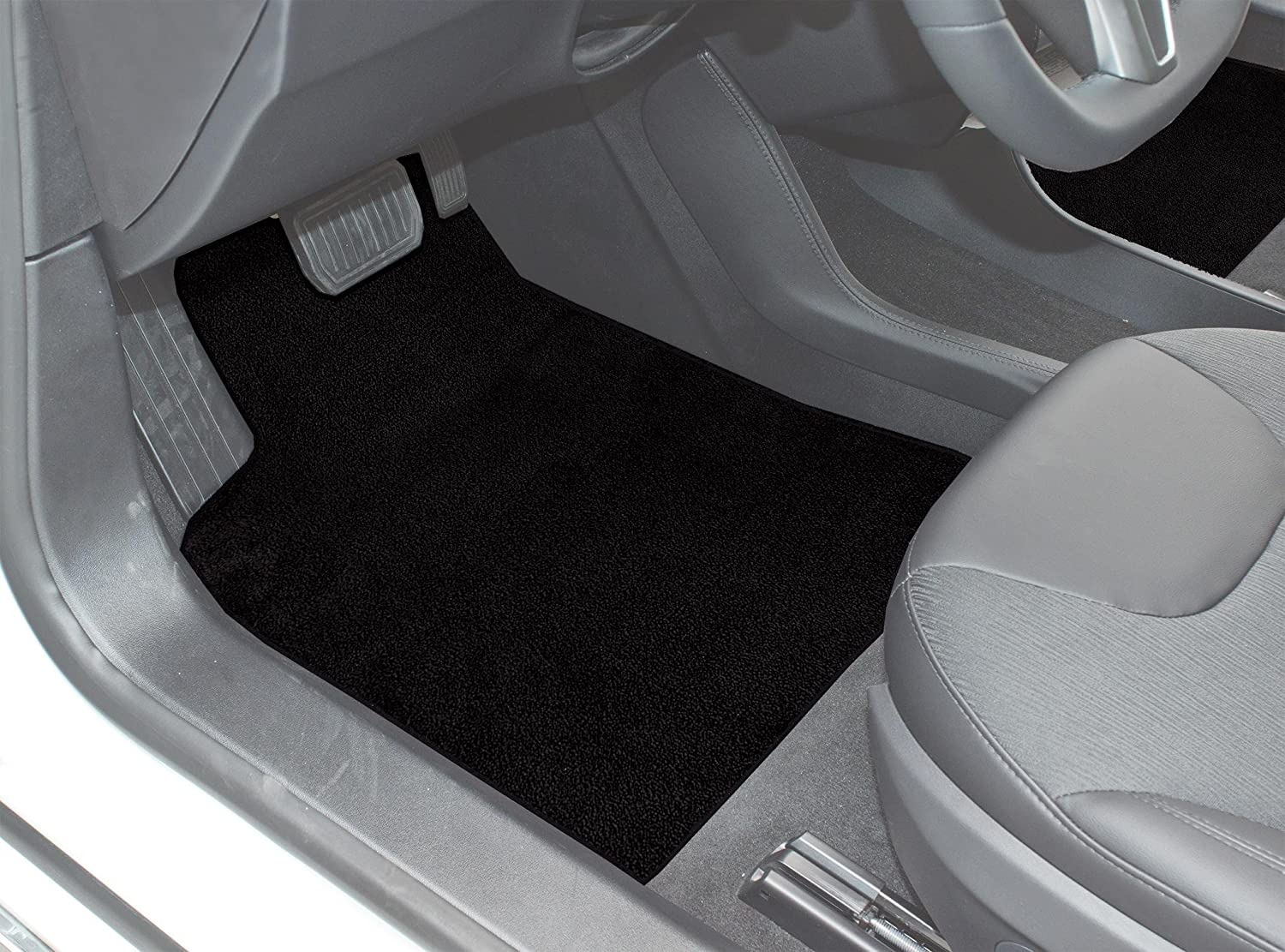 Black Coverking Custom Fit Front Floor Mats for Select Ferrari F512M Models Nylon Carpet