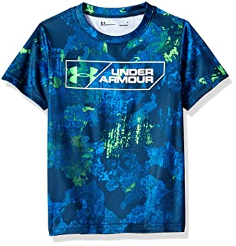 760723c0 Image Unavailable. Image not available for. Color: Under Armour Boys' Little  Short Sleeve Graphic Tee ...