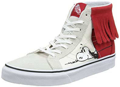 798405bb7a Vans SK8-Hi Moc (Peanuts) Dog House Bone Women s Skate Shoes Size