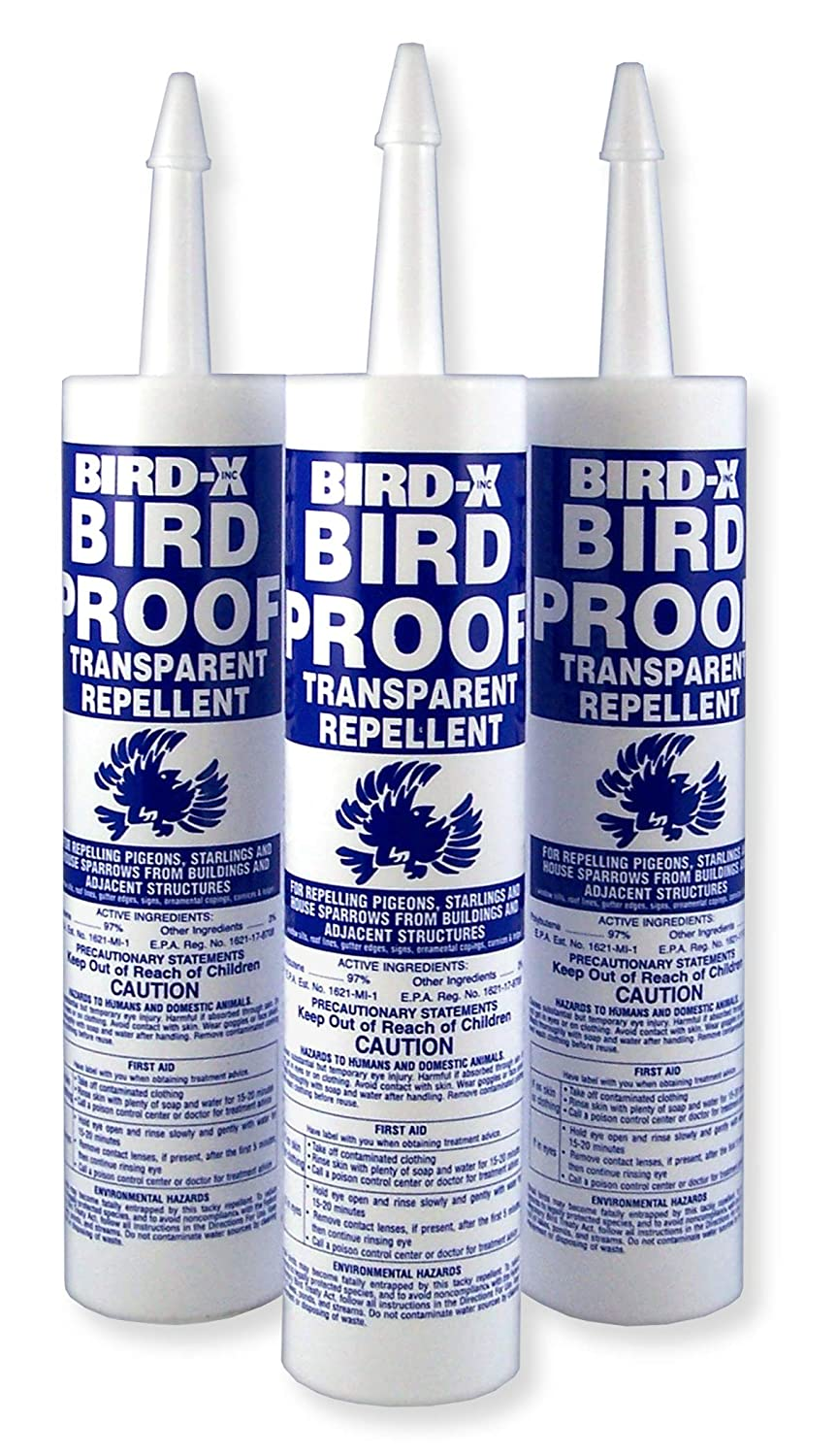 Bird-X Bird-Proof Gel Bird Repellent, Trial Kit of 3 Tubes