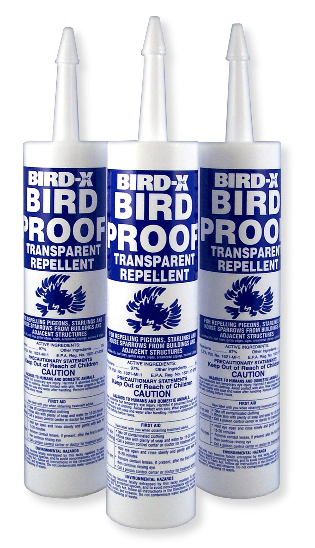 Bird-X Bird-Proof Gel Bird Repellent, Trial Kit of 3 Tubes