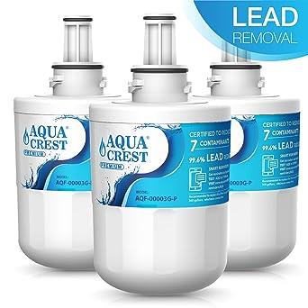 AQUACREST DA29-00003G NSF 53&42 Filtro de agua del refrigerador, compatible con Samsung Aqua Pure PLUS DA29-00003G,DA29-00003F,DA29-00003B, ...