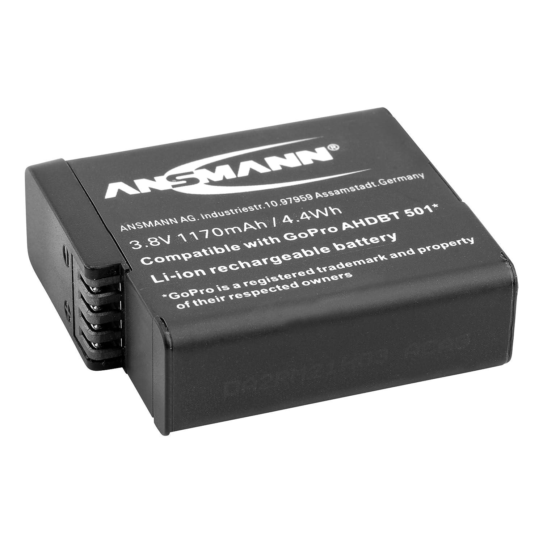 ANSMANN Photo Cam Vario - Caricatore Universale per Batterie Fotocamere Canon | Nikon |Mignon AA | Micro AAA 1001-0019