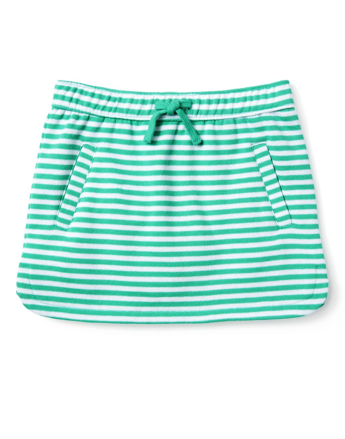 Gymboree Little Girls' Dolphin Skirt, Bright Teal Stripe, S