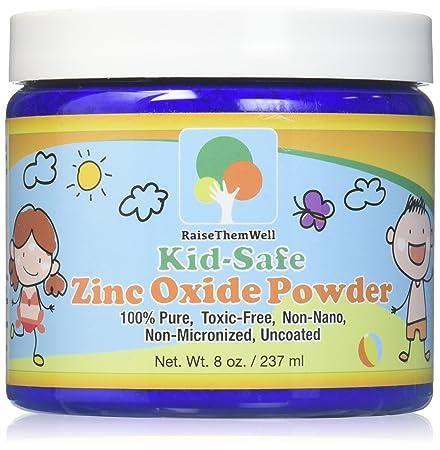 Kid-Safe Zinc Oxide Powder. Lead Free. 100 pure, non-nano, non-nicronized, uncoated, cosmetic grade powder. Great for sunscreens, acne creams, diaper creams, and more.