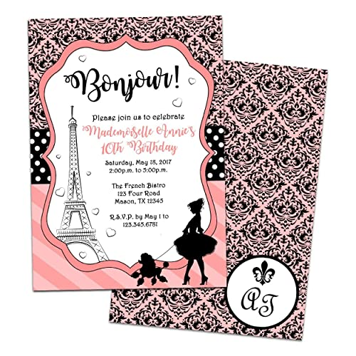 Image Unavailable Not Available For Color Paris Birthday Invitation