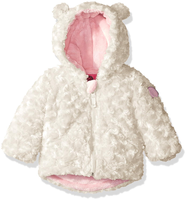Weatherproof Baby Girls' Rosette Faux Fur Knit Jacket, Winter White, 12 Months Weatherproof Children' s Apparel J_W940-Winter White-12M