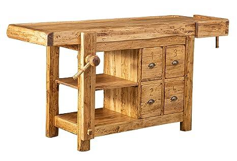 Biscottini Banco da lavoro Country in legno massello di ...