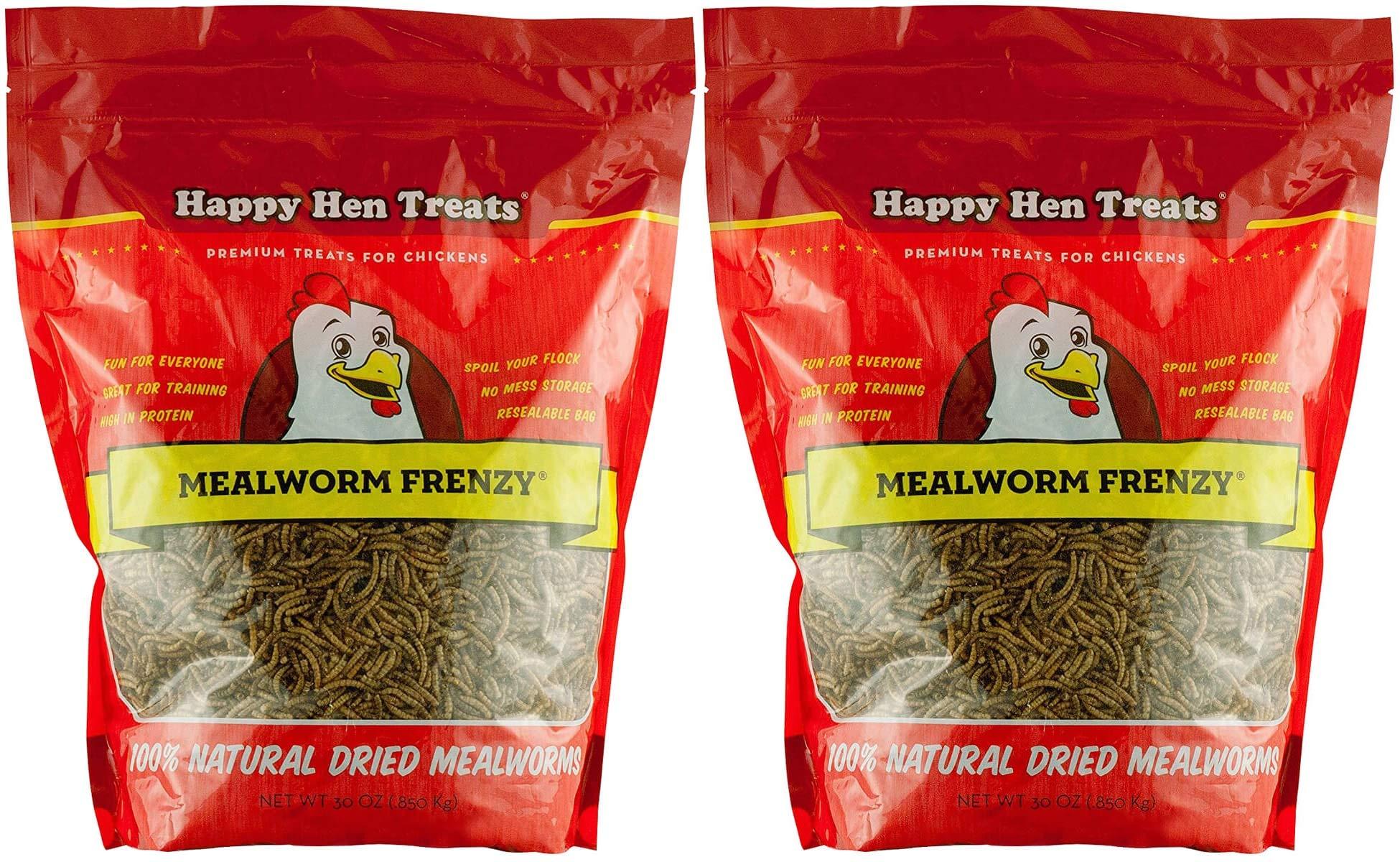 Happy Hen Treats Mealworm Frenzy, 30-Ounce (2 Pack) by Happy Hen