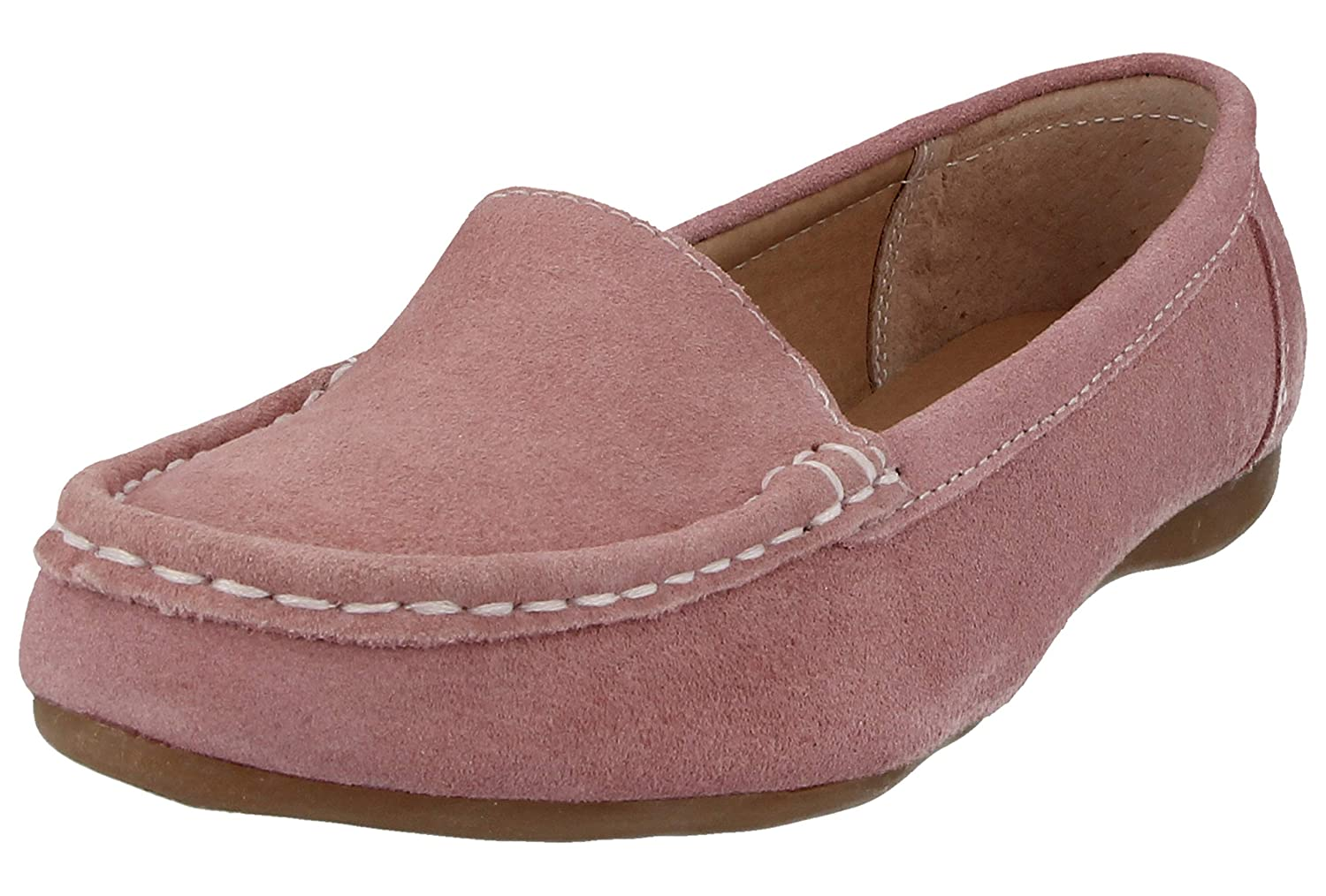 Ladies Real Suede Leather Slip On Tassel Jewels Flat Moccasin Loafers Shoes Size 3-8