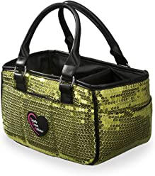 8f1bf58f287a Green Sequin Ice Skating Bag Tennis Gym and Ballet Girls Athletic Bag