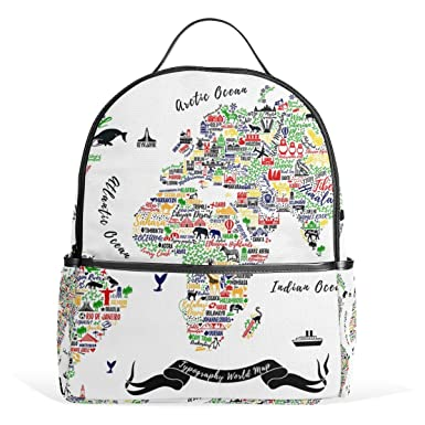 Jstel kids backpack childrens day gift world map travel poster jstel kids backpack childrens day gift world map travel poster cities and sightseeing att school backpacks gumiabroncs Image collections