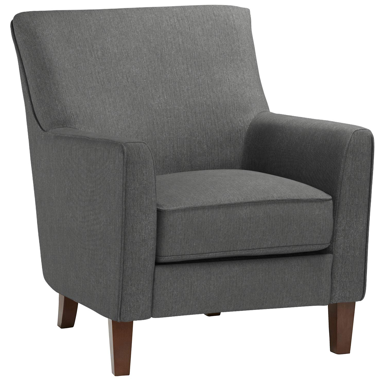 "Stone & Beam Cheyanne Modern Accent Chair, 31""W Caviar"