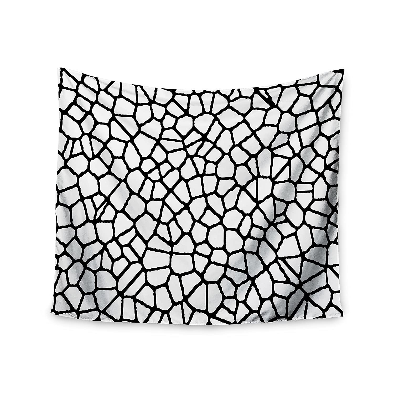 Kess InHouse Trebam Staklo I White Black 51 x 60 Wall Tapestry