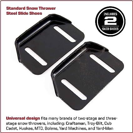 2 Snowblower Shoe Skids 784-5580 for MTD Troybilt Snowthrower Skid Snow Shoes
