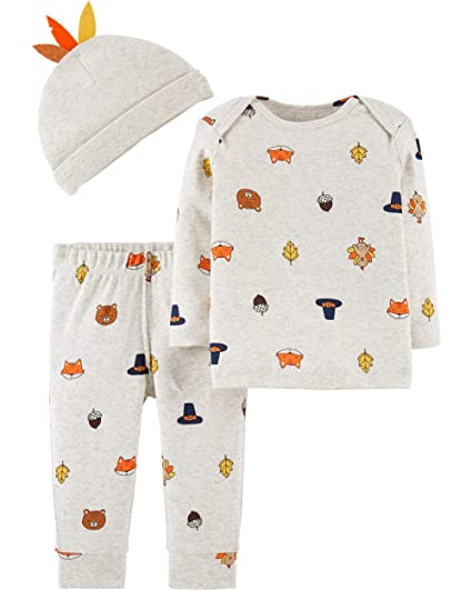 f28df6f3fd0f Amazon.com  Carter s Baby 3-Piece Thanksgiving Set  Clothing
