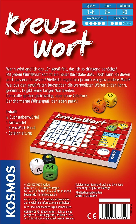 KOSMOS 711 153 - Crucigrama Mitbringspiel: Lach, Bernhard, Rapp, Uwe: Amazon.es: Juguetes y juegos