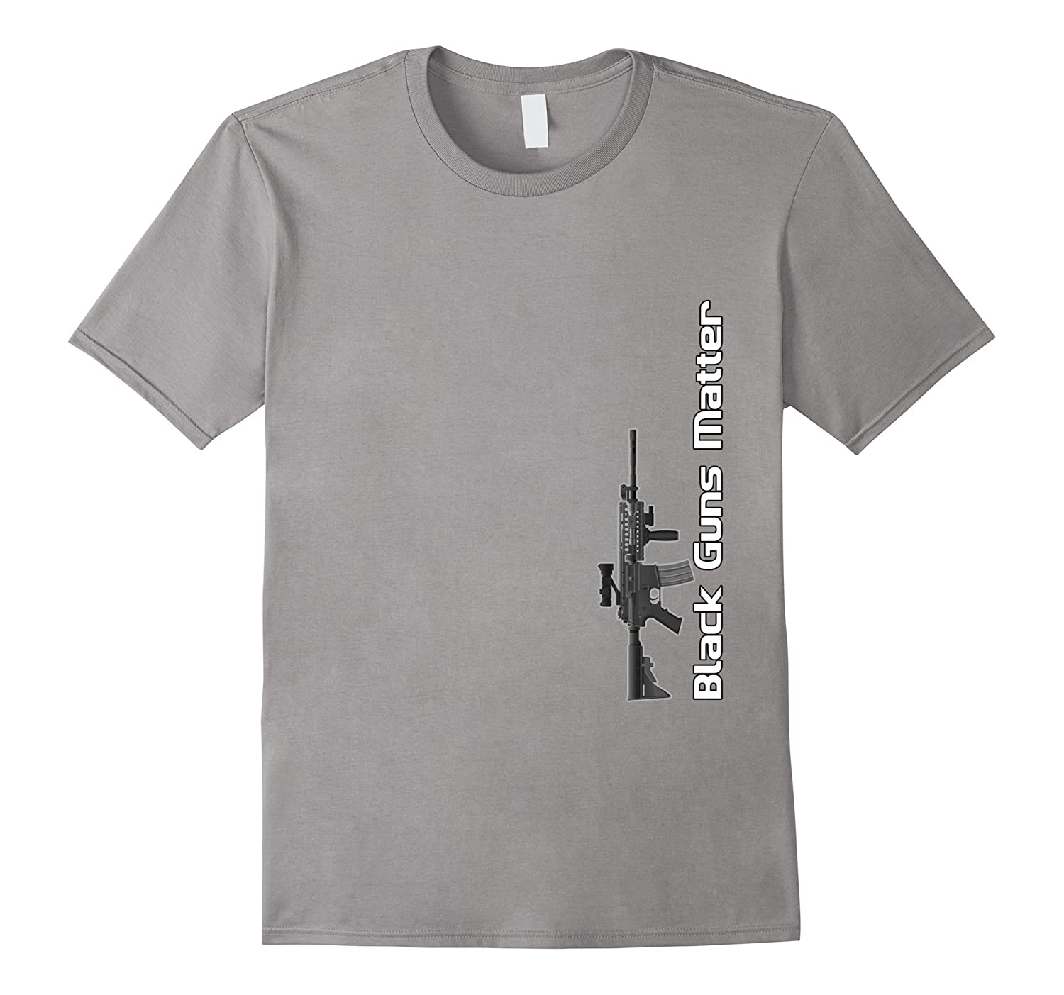 Black Guns Matter T-shirt by Zany Brainy  Handguns Firearms-TD