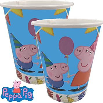 8 Vasos de Fiesta * Peppa Pig * para cumpleaños Infantiles y ...