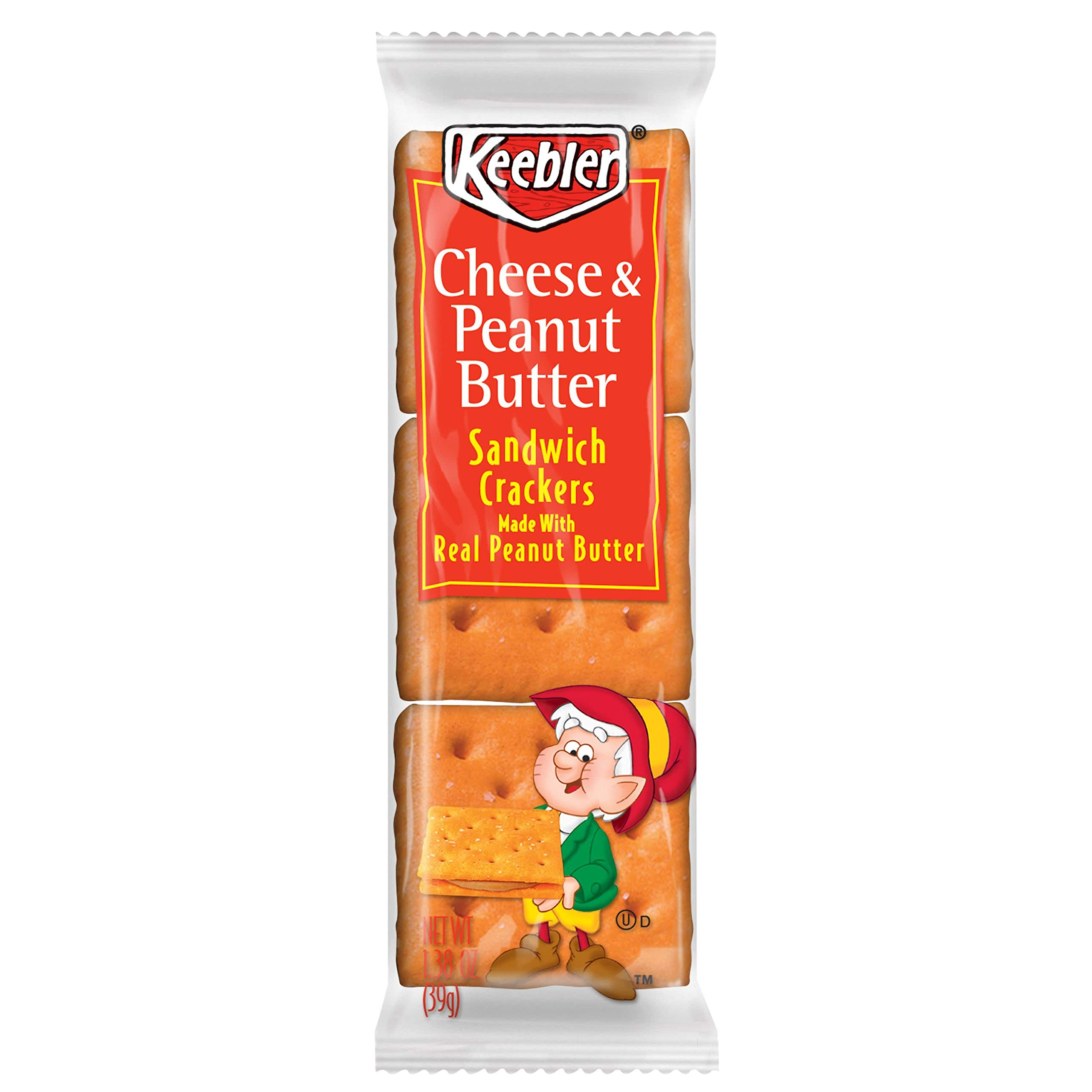 Keebler Cheese and Peanut Butter Sandwich Crackers, Single Serve, 1.38 oz Packages, 8 Count(Pack of 6) by Keebler Sandwich Crackers (Image #7)