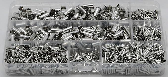 Aderendhülsen Set Sortiment Unisoliert Blank 0 5 0 75 1 0 1 5 2 5 10mm Sinnvolle Mengen In Plastikbox 1950 Tlg