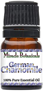 Miracle Botanicals German (Blue) Chamomile Essential Oil - 100% Pure Matricaria Chamomilla - Therapeutic Grade - 2.5ml